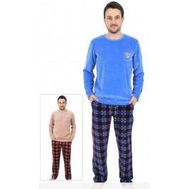 Pánské pyžamo dlouhé Marek Velikost M, Barva hnědá