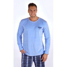 Pánské pyžamo dlouhé Albert Velikost M, Barva šedá