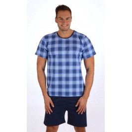 Pánské pyžamo šortky Jan Velikost M, Barva modrá