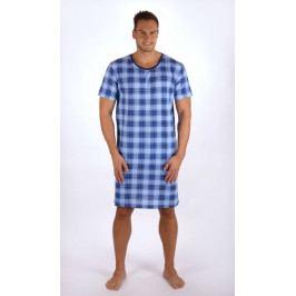 Pánská noční košile s krátkým rukávem Jan Velikost M, Barva modrá