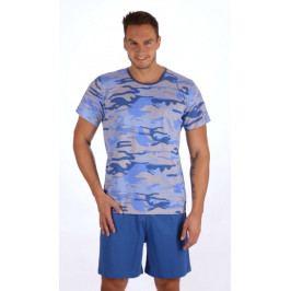 Pánské pyžamo šortky Army nadměr Velikost 2XL, Barva hnědá