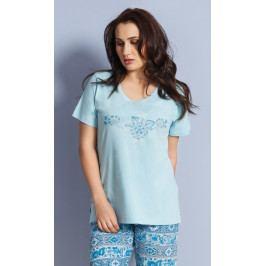 Dámské pyžamo kapri Elizabet Velikost 1XL, Barva lososová