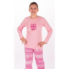 Dětské pyžamo dlouhé Sovička Velikost 9 - 10, Barva lososová