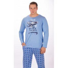 Pánské pyžamo dlouhé Auto Legend Velikost 2XL, Barva šedá