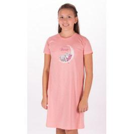 Dětská noční košile s krátkým rukávem Méďa na měsíci Velikost 15 - 16, Barva mentolová