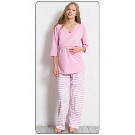 Dámské pyžamo dlouhé mateřské Lenka Velikost XXL, Barva světle modrá