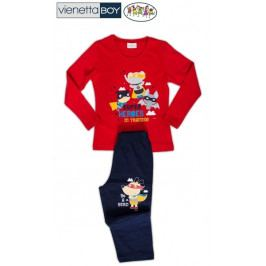 Dětské pyžamo dlouhé Superhrdinové Velikost 7 - 8, Barva žlutá