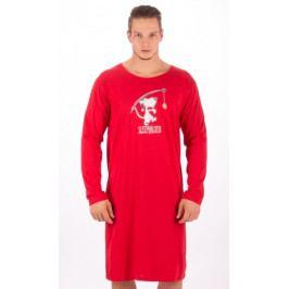 Pánská noční košile s dlouhým rukávem Sleepwalker Velikost M, Barva červená