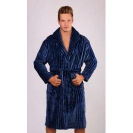 Pánský župan se šálovým límcem Oliver Velikost M, Barva tmavě modrá