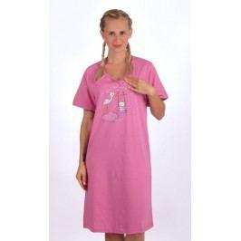Dámská noční košile mateřská Čáp s houpačkou Velikost S, Barva mentolová