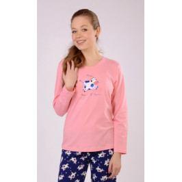 Dětské pyžamo dlouhé Malé tele Velikost 9 - 10, Barva lososová