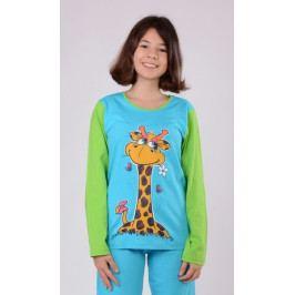 Dětské pyžamo dlouhé Žirafa Velikost 11 - 12, Barva světle růžová