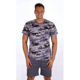 Pánské pyžamo šortky Army Velikost M, Barva hnědá