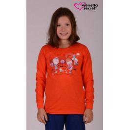 Dětské pyžamo dlouhé Dívky ve městě Velikost 13 - 14, Barva jahodová