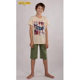 Dětské pyžamo kapri Motocykl Velikost 9 - 10, Barva béžová