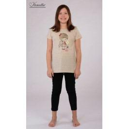 Dětské pyžamo kapri Dívka s klíčem Velikost 9 - 10, Barva světle šedá