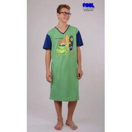 Pánská noční košile s krátkým rukávem Žába King Velikost L, Barva zelená