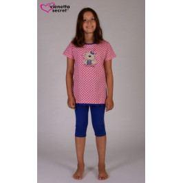 Dětské pyžamo kapri Méďa s hrnkem Velikost 15 - 16, Barva světle růžová