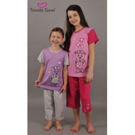 Dětské pyžamo kapri Méďa v šatech Velikost 1 - 2, Barva žlutá/oranžová