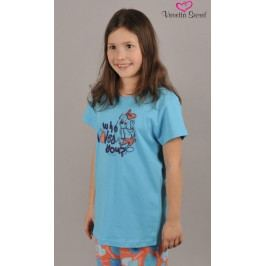 Dětské pyžamo kapri Pes Fintilka Velikost 11 - 12, Barva tyrkysová