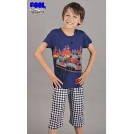 Dětské pyžamo kapri Formule 1 Velikost 3 - 4, Barva modrá