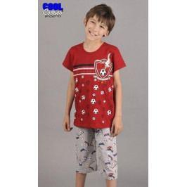 Dětské pyžamo kapri Fotbal Velikost 1 - 2, Barva vínová