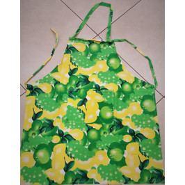 Kuchyňská zástěra 50x60 cm ovoce zelená