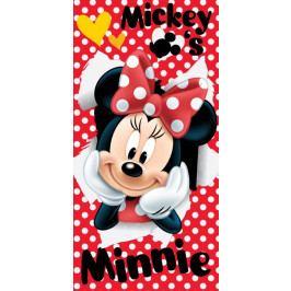 Jerry Fabrics osuška Minnie red 02 70x140 cm