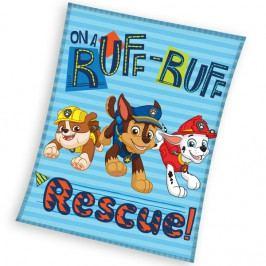 Carbotex dětská fleecová deka Paw Patrol Záchranáři  110x140 cm