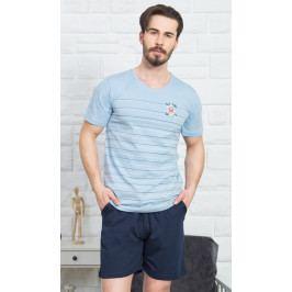 Pánské pyžamo šortky Jonáš Velikost M, Barva světle šedá