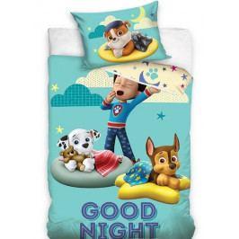 Dětské povlečení bavlna do postýlky Tlapková Patrola Good Night 100x135+40x60 cm