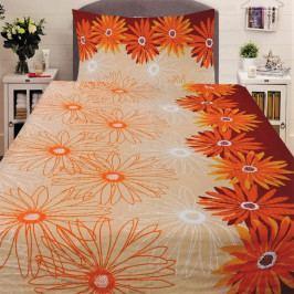 Povlečení krep Kopretina oranžová 140x200+70x90 cm