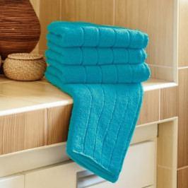 Polášek mikrofroté ručník Iva tyrkysová 50x100 cm
