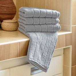 Polášek mikrofroté ručník Iva šedá 50x100 cm