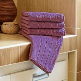 Polášek mikrofroté ručník Iva šeříková 50x100 cm