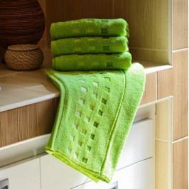 Polášek mikrofroté ručník Zora zelená 50x100 cm