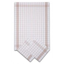 Svitap Utěrka Negativ Egyptská bavlna bílá/béžová - 3 ks 50x70 cm