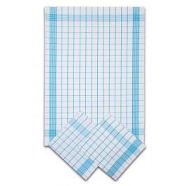 Svitap Utěrka Negativ Egyptská bavlna bílá/tyrkys - 3 ks 50x70 cm balení 3 ks