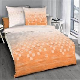 Kaeppel povlečení bavlněný satén Domino oranžové 140x200+70x90 cm