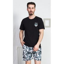 Pánské pyžamo šortky Break rules Velikost S, Barva černá