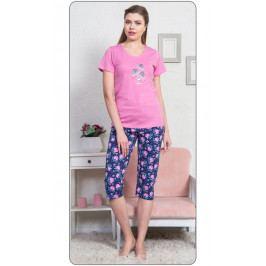 Dámské pyžamo kapri Dagmar Velikost M, Barva šeříková