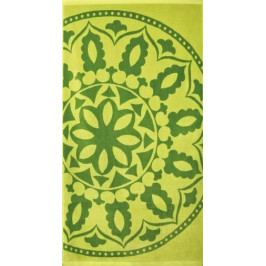 Greno plážová osuška 90x170 cm Medailon zelená