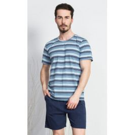 Pánské pyžamo šortky Jirka Velikost L, Barva šedá