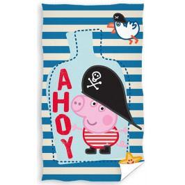 Carbotex dětský froté ručník Prasátko Peppa George Pirát 30x50 cm