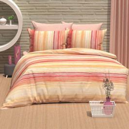 Povlečení bavlna DeLuxe Gradient oranž 140x200+70x90 cm