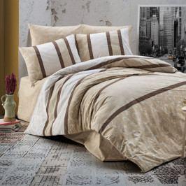 Povlečení bavlna DeLuxe Vista béžové 140x200+70x90 cm