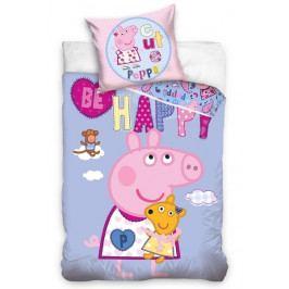 Dětské povlečení bavlna Prasátko Peppa Roztomilá Pepa 140x200+70x90 cm