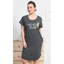 Dámské domácí šaty s krátkým rukávem Tropical Velikost 1XL, Barva starorůžová