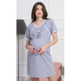 Dámská noční košile mateřská Sovička Velikost S, Barva šedá