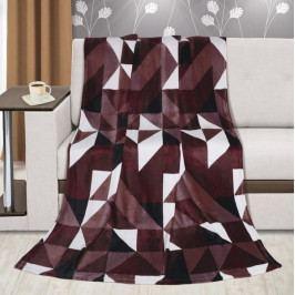 Bellatex deka Kemping plus hnědé trojúhelníky 150x200 cm